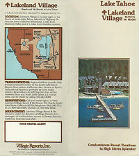 Lakeland Beach & Ski Resort Lake Tahoe CA 1984 Travel Brochure Photos Map Rates