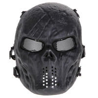 Outdoor Airsoft Paintball Tactical Full Face Protection Skull Mask Army Black US