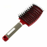 Women Hair Scalp Massage Comb Bristle & Nylon Hairbrush Wet Curly Detangle Hair