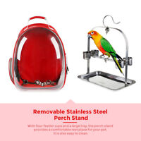 Bird Carrier Transport Outside Travel Carry Box Bag With Perch Feeding Cup