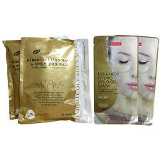 Purederm Gold Hydro Collagen Mask (2 Pack 50 Sheet) + Gold Eye & Neck Mask x2P