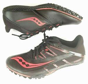 Saucony Spitfire 4 Running Shoes Track Black Red  Men's Size 7.5