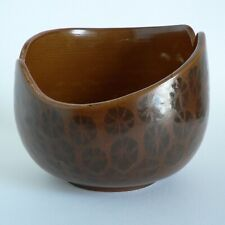 "POOLE SIENNA SHAPE 5.5"" PLANT POT TRIAL 073 HAND-THROWN CACHE 1970'S TONY MORRIS"