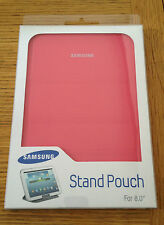 """GENUINE SAMSUNG CASE POUCH WITH STAND NOTE/TAB 2/3/4/S 8"""" TABLET PINK"""
