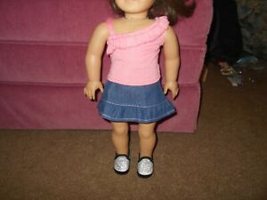 """18"""" Doll Outfit Doll NOT INCLUDED Skirt, Shirt, Sparkly Sneakers"""