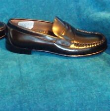 BROOKS BROTHERS Kids Penny Loafers Black Slip-On Footwear Shoes Sz 2.5 Handsewn