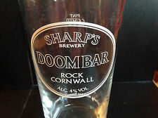 DOOMBAR REAL ALE PINT GLASS - SHARPS ROCK CORNWALL HOME BAR PARTY 1 PT MAN CAVE
