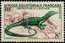 EBS French Equatorial Africa 1955 Monitor Lizard (Varanus sp.) FR-EQ 231 MNH**