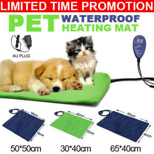 Waterproof Pet Electric Heating Pad Dog Cat Heated Warm Pad Thermal Protection
