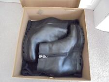 ASH WEDGED BOOTS BLACK LEATHER SIDE ZIP SIZE 38 UK 5 WITH BOX AND BOOT BAG