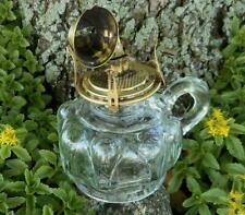 Vtg Antique Loup Dart & Heart Finger Oil Lamp Flip Top No. 1 Queen Anne Burner