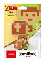 Amiibo The Legend of Zelda Link 8 Bit Figure Nintendo 3DS Wii U japan new figure