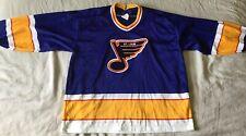 St Louis Blues Vintage 80s CCM Ice Hockey Jersey Size XL