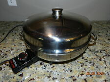 "Vintage FARBERWARE Electric 12"" Fry Pan Skillet Model 344-A Buffet Server"