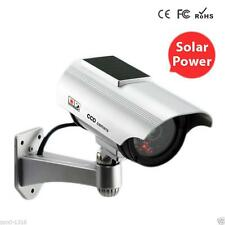 LED Solar Power Fake Camera Outdoor Security CCTV Surveillance Dummy Camera WT