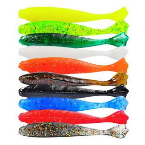 10 Glitter Savage soft Cannibal Shad Chub Perch Pike lure Baits Drop Shot gear