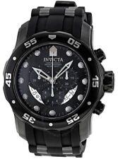 Invicta Pro Diver Ocean Master Chronograph  Black Silicone Men's Watch 6986 SD