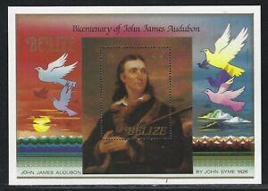 1985 Belize Scott #756 - John Audobon Bicentennial Souvenir Sheet - MNH