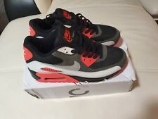 NIKE MENS AIR MAX 90 SIZE UK 7.5 BLACK AND ORANGE RUNNING SHOES