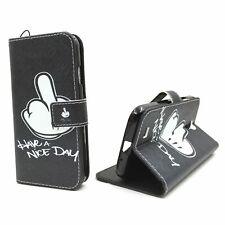 Schutz Hülle für Handy Samsung Galaxy S4 Mittelfinger Tasche Wallet Case Cover