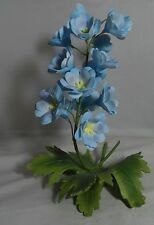 Boehm Delphinium Flower Statue Figurine Porcelain & Bronze Made in England