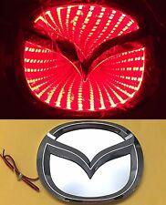 3D LED Car Logo Red Light Auto Badge Rear Emblems Lamp For Mazda 2 Mazda3 Mazda8
