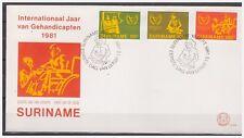 Surinam / Suriname 1981 FDC 54 Year of disabled gehandikapt handicape wheelchair