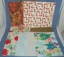 VTG Lot Gift Wrapping Wrap Paper Unicorn Holly Hobbie Birds Floral Christmas