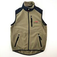 Vintage LL Bean All Conditions Outdoor Fleece Vest Size Small Weather Channel
