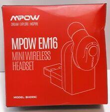 New listing Mpow Em16 Mini Wireless Headset 1 Earpiece New Open Box