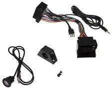 USB 3,5mm Klinke MMT AUX In Adapterkabel Set Radio Einbau Buchse f MAN TGX TGL