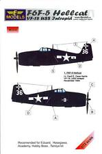LF Models 1/72 GRUMMAN F6F-5 HELLCAT U.S.S. INTREPID VF-18 Paint Mask Set