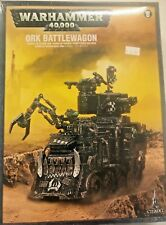 Warhammer 40K ORK BATTLEWAGON Space Orks Mobile Fortress w Zzapp Gun&Kannon, New