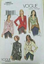 HTF Vogue V8601 Misses Victorian Tailcoat Style Hi-Low Blazer Jacket Pattern New