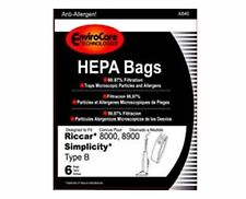Envirocare Riccar Type B Bags for 8000, 8900 HEPA w/closure