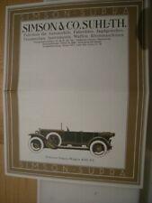 Prospekt Simson Supra 1926 Suhl Thüringen