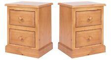 Pair of Large Bedside Cabinets Delphi Premium Solid Pine Bedroom Furniture