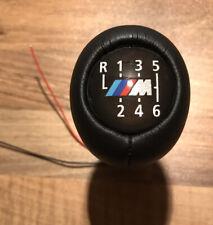 BMW M Power M Sport 6 Speed Illuminated Manual Gear Knob Stick Genuine Leather