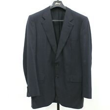 Brioni Men's Palatino Navy 100% Wool 2 Button Suit Jacket Blazer Size 52 L