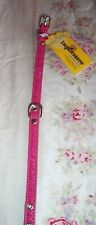 """New listing Dark Pink Dog Collar With Stitched Heart Outline Small 11-14"""" Neck New"""