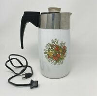 Vintage Corning Ware 10-Cup Electric Percolator - Spice O'Life -With cord