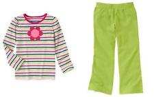 "NWT GYMBOREE 2 pc. set  Size 4 ""SMART & SWEET"" Striped Top/Apple Green Pants"