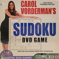 Mattel 2005 Sudoku DVD Game Family Fun Gaming + Carol's Tips, Tricks & Secrets