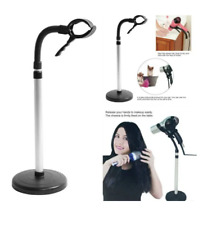 Hair Dryer Stand Hairdryer Holder Adjustable Stainless Handsfree Blow Drying New