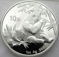 """CHINA 10 Yuans 2007- """"PANDA"""" 1 Oz. SILVER- BU-Fabulous 12"""