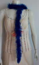 NWOT Royal Blue Marabou Boa Halloween Burlesque Dance Costume 6 feet 25 gms b15