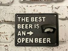 Cast Iron Inside /Outside Wall Mounted Beer Bottle Opener