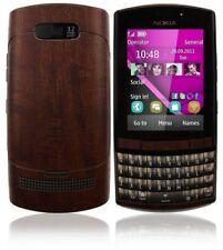 Skinomi Phone Skin Dark Wood Cover+Clear Screen Protector for Nokia Asha 303