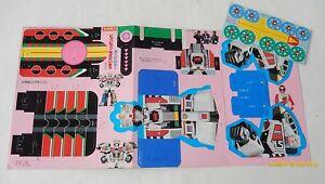 POWER RANGERS printed in JAPAN 1993 : Découpage carton / Planche à découper Zord