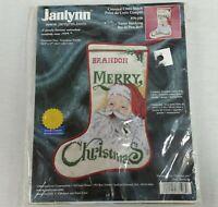 Janlynn Counted Cross Stitch Kit Stocking Santa Claus 78-106 Christmas 2000